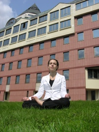 yoga businesswoman