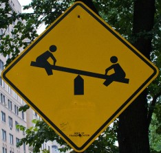 Seesaw sign